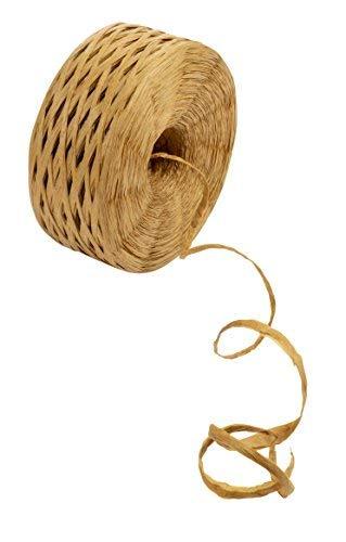 Bast Band - Papierband, Naturbast Schnur Band für Basteln, Verpacken, Geschenkverpackungen, Tan, 325 Yard Tan Raffia