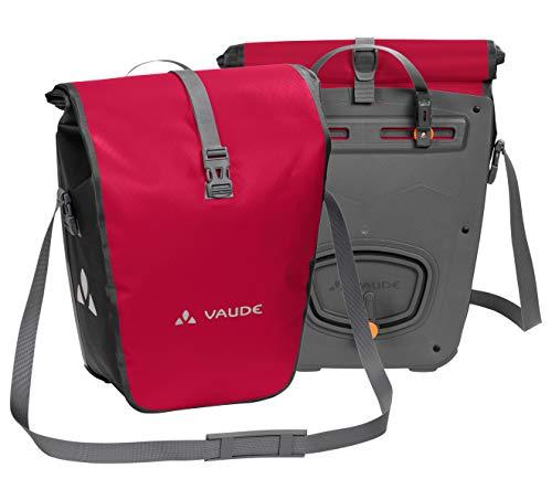 VAUDE Aqua Back -  Juego de 2 bolsas para bici adaptables a la carga e impermeables, Rojo (Rojo India), Talla única