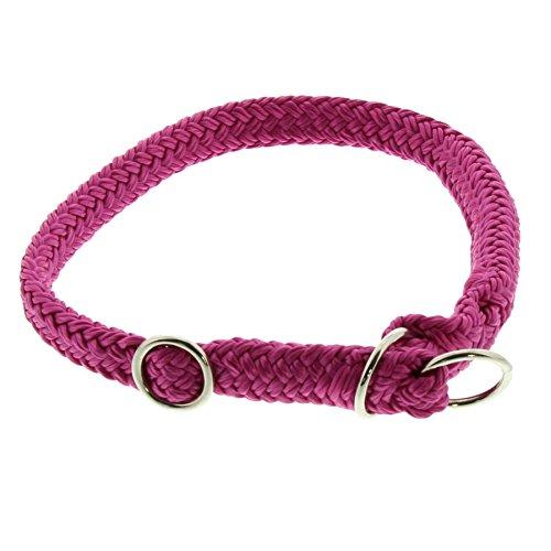 Dinoleine Hunde-Halsband/Stoppwürger, Größenverstellbar, Polyester, Größe: S/ 45 cm, Magenta, 211107