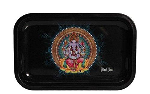 Black Leaf' Rolling Tray 'Ganesha' M (Top Tray Rolling)