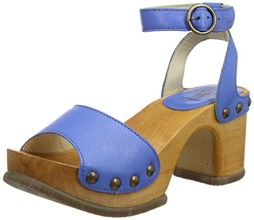 FLY London Romy996, Sandales Bride Cheville Femme Bleu (Smurf Blue 002)