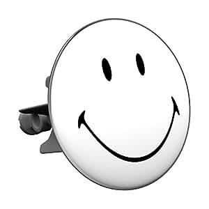 Maxi Plopp Bouchon d'Evier Fantaisie, Smiley black&white, Bouchon pour Lavabo, Ecoulement