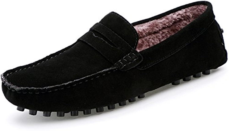 Gli uomini di moda casual bean scarpe, scarpe, scarpe, piselli scarpe aggiungere velvet, uomini pigri pedale bean scarpe,nero,44 | Una Buona Reputazione Nel Mondo  97f112
