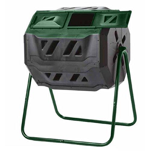 Exaco Trading Company Exaco Mr. Spin Kompost Tumbler–160Liter/43L, Dual Kammer Kompost, auf two-leg stehen