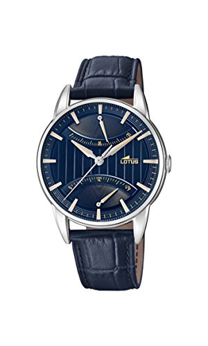 Lotus Watches Mens Multi dial Quartz Watch with Leather Strap 18429/3