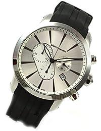 Pierre Cardin Chrono Fecha Caucho Señor Reloj de pulsera Swiss Made pc105441s01