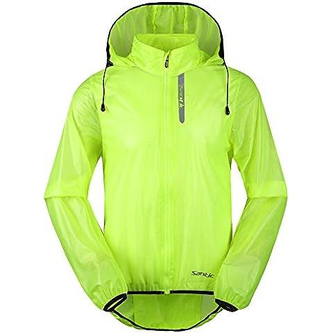 Santic ciclismo bicicleta de montaña ropa transpirable chaqueta impermeable de los hombres de secado rápido resistente al viento abrigo de piel con capucha
