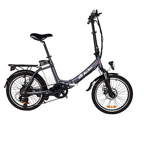 """DAS.BIKE ALU Elektrofahrrad FROUME 20\"""" E-Bike Klapprad Faltrad Elektro Fahrrad 20 Zoll E Bike (Schwarz)"""