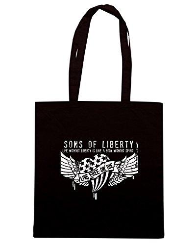 T-Shirtshock - Borsa Shopping TM0613 life without liberty is like a body without spirit Nero