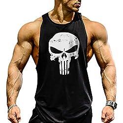 Cabeen Camisetas de Tirantes Entrenamiento Fitness Gimnasio Chaleco Músculo Fit para Hombre
