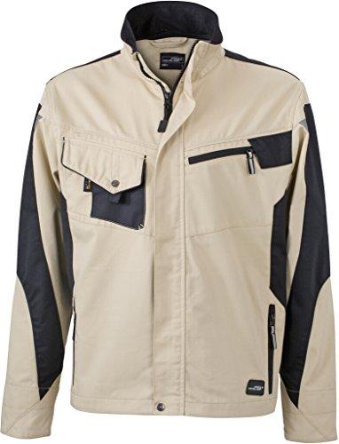 JAMES & NICHOLSON Professionelle Jacke mit hochwertiger Ausstattung Stone/Black