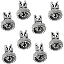 Spares2go Cesto con ruedas para Vestel secar en lavavajillas (pequeños,–Juego de 8)