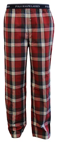 Polo Ralph Lauren Herren Point Plaid Pyjama Bottoms, Rot, X-Large