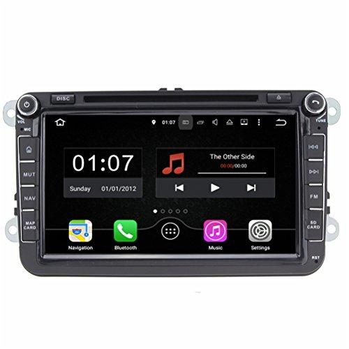 Top Navi 8inch 1024*600 double din Android 5.1.1 Car DVD Player for VW SAGITAR/JATTA/PASSAT/GOLF/TIGUAN/SHARAN/CADDY/POLO/BORA car Auto GPS navigation Wifi Bluetooth Radio 1.6 GB CPU Rockchip RK3188 Cortex A9 DDR3 Capacitive Touch Screen 3G car stereo audio Phonebook RDS AUX DVR Mirror Link 16GB Quad Core