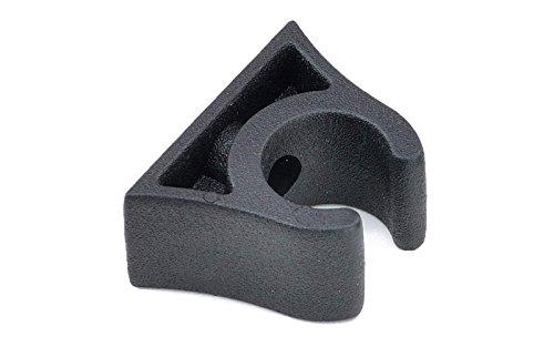 Clip 19 - 20 mm Angelruten Bootshaken Paddelhalter Schwarz