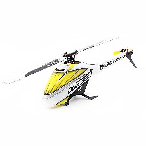 *Goolsky ALZRC Teufel 380 FAST Flybarless Gürtelantrieb 6CH 3D Hubschrauber Super Combo Set mit Motor ESC Servo Gyro*