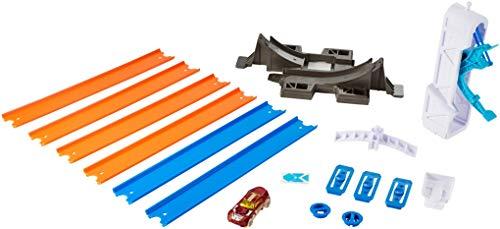 Hot Wheels DMH51 Track Builder Basis Set Looping Starter, Spielset mit Verbindungsteilen und Tracks inkl. 1 Spielzeugauto, ab 6 Jahren (Builder Track Hotwheels)