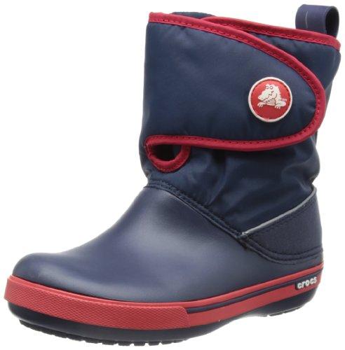 Crocs Crocband II.5 Gust Boot, Unisex - Kinder Schneestiefel, Blau (Navy/Red), 25/26 EU