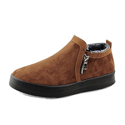 Les Chaussures De Coton Thermiques Des Hommes De Qiangda Imperméabilisent Les Chaussures Imperméables Extérieures De Neige, 4 Couleurs Facultatives (couleur: Noir, Taille: Eu41 = Uk7.5) Brown