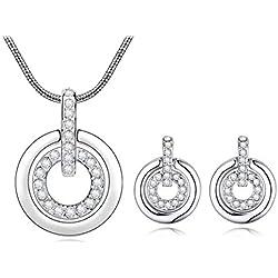 Sizzling Australian Diamond Pendant & Earrings Set for Women & Girls