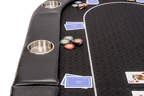 Riverboat Faltbare Pokerauflage mit Schwarzem wasserabweisenden Stoff und Tasche - Pokertisch 200cm - 3