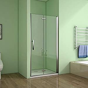Mamparas de Ducha Puerta Plegable Cristal 6mm Antical 70x185cm