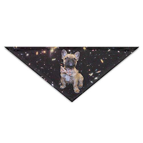 Sdltkhy Geometric French Bulldog with Bow Tie Pet Puppy Dog Triangle Head Scarf Bandana Bibs Collars Neckerchief (Dreieck Bow Tie)