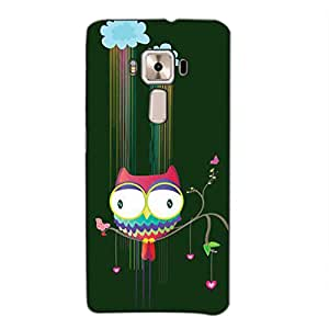 Bluethroat Colourful Animated owl Back Case Cover for Asus Zenfone 3 Deluxe ZS570KL (5.7 inches)