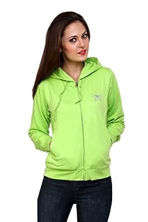 Cayman Fleece Sweatshirt For Women (Lime Green,Medium)
