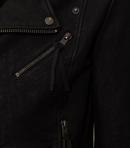TIGHA Herren Lederjacke Cassidy in Schwarz Black