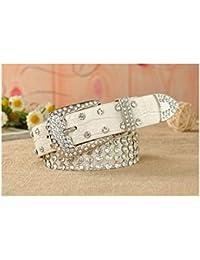 Ofgcfbvxd Cintura Casual da Donna Cintura intarsiata con Strass da Donna  Cintura Joker Lady Belt Belt a53da7e9500