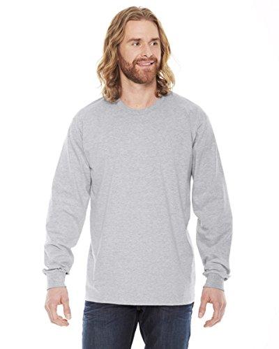 American Apparel -  Maglia a manica lunga  - Abbigliamento - Uomo grigio Small