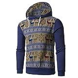 Soupliebe Herren Herbst Winter National Style Print Langarm Kapuzenshirt Bluse
