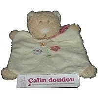6f9145151db7 Bengy - Doudou cmp bengy chat marionnette blanc foulard rose fleur bleu et  rose - 3447