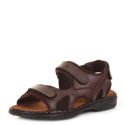 Mens Real Leather Outdoor Summer Sandals SIZE 12