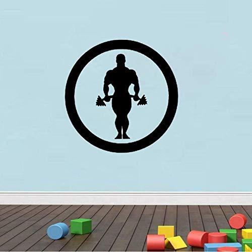 Wandaufkleber weihnachten halloween geschenk hantel muskel sport gym arm fitness wandaufkleber pvc 54 cm * 54 cm