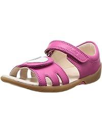 Clarks SoftlyWalk Fst - Zapatos primeros pasos de cuero para niña