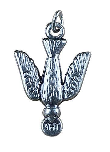 Ciondolo Colomba dello Spirito Santo placcato argento - 10 pezzi