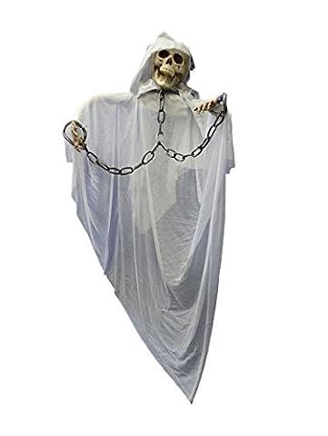 Riesiges XXL Halloween Horror Mönch Skelett Monster mit Kloster Kutte in Ketten (In Halloween Kostüme)