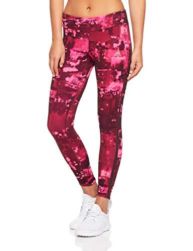 adidas Damen Response Tight, Solar Pink/Real Magenta/Noble Maroon/Night Red, S -
