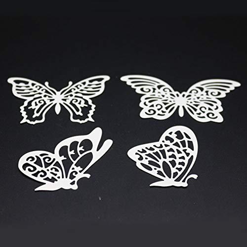 Lazzboy Fustelle Natale Scrapbooking Metallo Stencil Paper Card Craft per Sizzix Big Shot/Altre Macchine(E, Farfalle) - 3