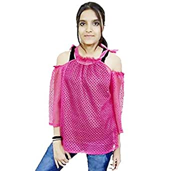 Pixie Brothers Women Cotton Silk Top (Pink_ Pixie04)