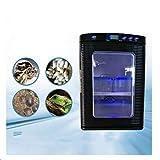 CGQFHQ Incubadora de Reptiles Laboratorio científico Incubadora, refrigeración y calefacción Fahrenheit 38-140 Grados, 12V / 220V, 60W, (Negro)