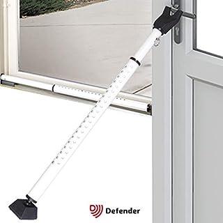 Adjustable Security Bar Door Brace - Non Slip Telescopic Locking Pole for Doors - Jammer for French Doors Sliders