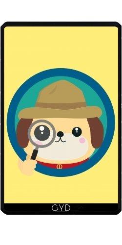 Hülle für Kindle Fire 7 pouces (2012 Version) - Hund Detektiv Mit Lupe by ilovecotton