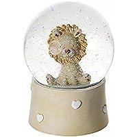 Bola de nieve musical con león para niños y niñas, regalo perfecto de bautizo o baby shower