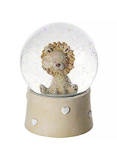 Löwen Schneekugel Spieluhr für Kinder Baby Jungen und Mädchen Geschenk Taufe Boy Music Box