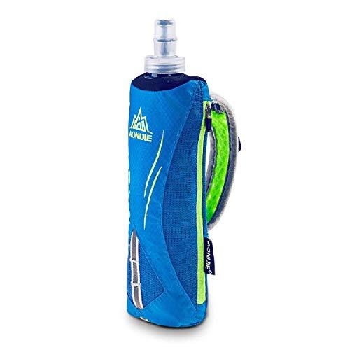 TRIWONDER Flaschenhalter mit 500ml Trinkflasche, Handheld Bottle für Laufen, Radfahren, Wandern, Camping (Blau)