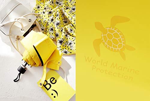 Faltbarer Regenschirm, ultraleichter Sonnenschutz, Sonnenschutz, Sonnenschutz, Sonnenschirm, Solarschirm, Taschenschirm, Kapselschirm Yellow Turtle m