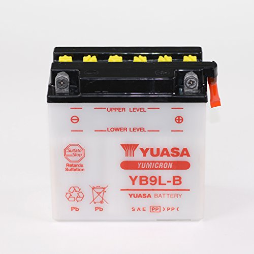 Batterie 12V 9AH yb9l-B di piombo acido YUASA 50915senza Pack Hyosung GF 125Moto Morini 31/2Sport V MZ ETZ 150250Scorpione 660Cup Replica Tour Travel TGB BULL & T 50BM Bullet
